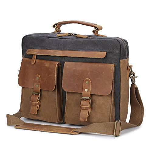 cartable sac cuir et toile