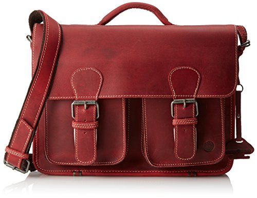 Cartable femme en cuir rouge original