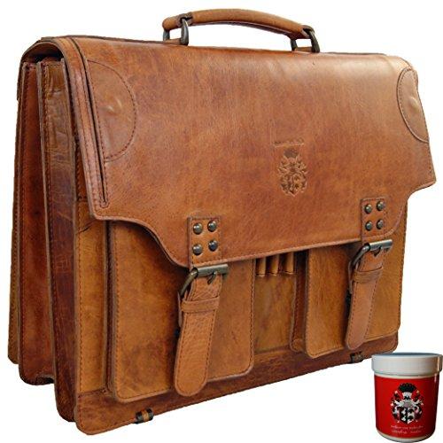 cartable cuir vintage 2 soufflets enseignant étudiant baron de maltzahn kepler