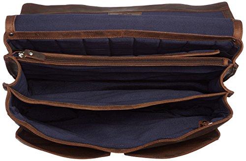 Espace spacieux et douillet pour ce cartable XXL en cuir Vintage Leonhard Heyden avec compartiment laptop. Très grand cartable en cuir à 3 soufflets pour enseignants. Fermoirs tuck, cartable cuir avec bandoulière amovible pour homme.