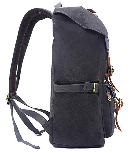 Ce grand sac à dos polyvalent EverVanz en cuir et toile ( 47 centimètres x 30 centimètres x 16 centimètres ) a un look résolument urbain aux notes exploratices tendances et un prix vraiment abordable !!