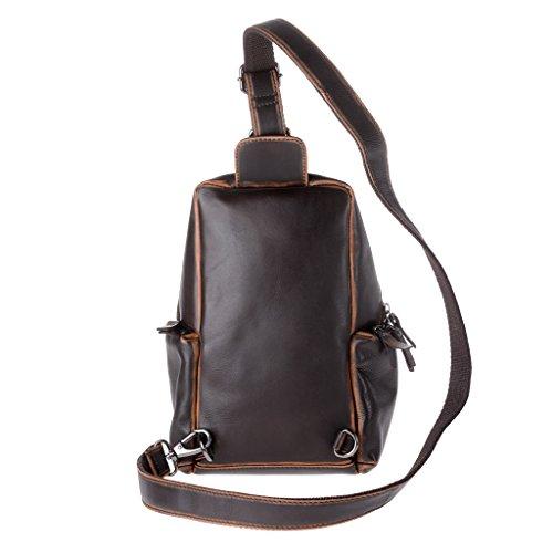 Vue arrière du sac à dos en cuir bretelle unique de chez Dudu pour homme