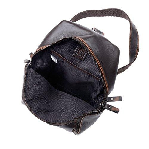 Intérieur avec doublure en tissu du sac à dos en cuir à bretelle unique de chez Dudu pour homme