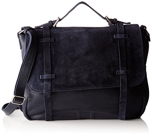 sac cartable daim bleu marine pour femme Mila et Louise - Cartable ... 7a38b38501d
