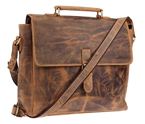 Sac Cartable vintage Greenburry avec compartiment laptop, 40 cm