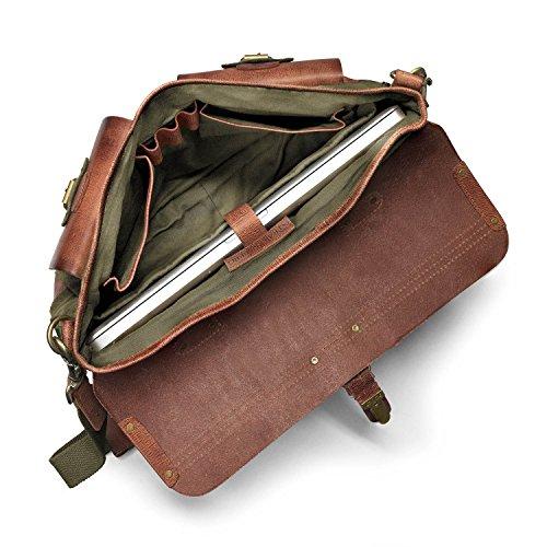 Intérieur soigné et bien organisé pour ce sac DRAKENSBERG avec ces pochettes pratiques, son porte stylo et son emplacement pour ordinateur.