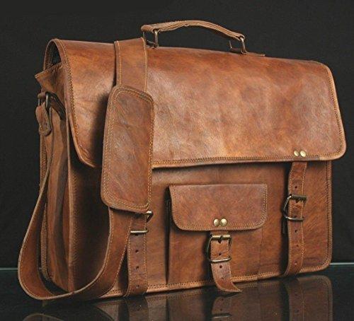 """Cartable sacoche cuir vintage originale qui peut accueillir un macbook pro 13"""",idéal comme sac de ville ou sac de cour pour le lycée ou la fac. Cartable fourre-tout étudiant en cuir qui se patine joliment avec le temps."""