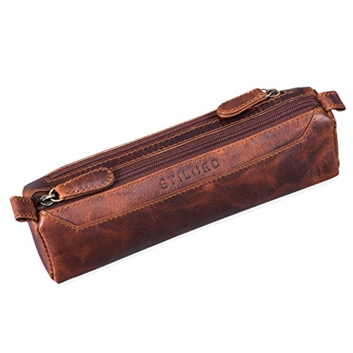 Trousse en cuir marron Stilord
