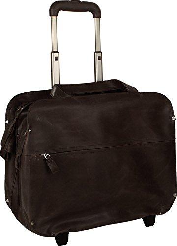 Valise pilote en cuir brun Harold's avec compartiment laptop 15 pouces.