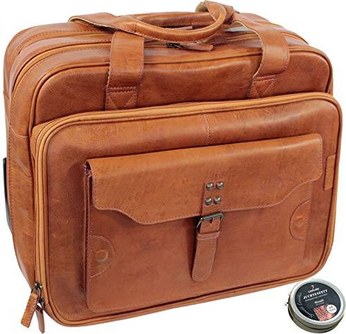 La valise pilote en cuir Marron Vintage